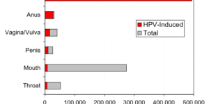 Graph of HPV Cancers