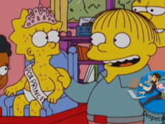 Image from the tv show The Simpsons of a Chickenpox Party